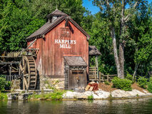 Water Mill in Magic Kingdom Stock Photography
