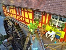 Water mill in Meersburg Stock Images