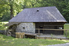 The water mill in the museum Stock Photo