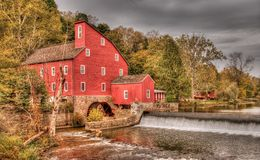 Water Mill in late fall in HDR Royalty Free Stock Image