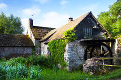 Water Mill. Old Exmoor Water Mill in green setting Stock Photography