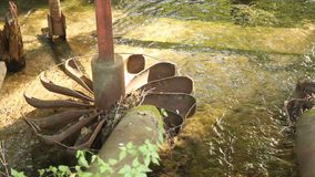 Water mill - propeller stock video footage