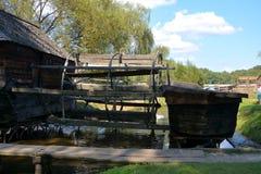 Water Mill in Romanian Peasant Museum in Dumbrava Sibiului, Transylvania Stock Photography