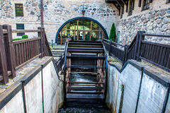 Water mill, and stone architecture Royalty Free Stock Images