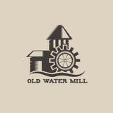 Water mill vintage illustration Stock Photo