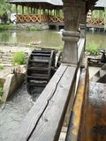 Water mill and water wheel in Maramures, Transilvania, Romania Royalty Free Stock Image