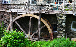 Water mill and water wheel Stock Image