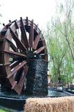Water mill wheel. Vintage water mill wheel, Thailand Stock Photo