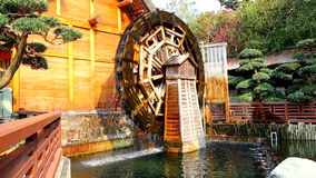 Water mill wheel stock footage