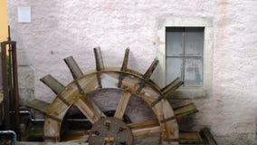 water mill wheel stock video