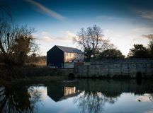 Water mill in winter Royalty Free Stock Images