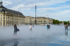 Water Mirror square in Bordeaux, France Stock Image