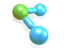 Water Molecule. Model. 3d isolated object royalty free illustration