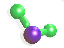 Water Molecule. Model. 3d isolated object Stock Image