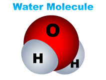 Water molecule icon Stock Photos