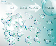 Water molecule Stock Images