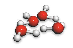 Water molecules Stock Image