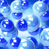 Water molecules background Royalty Free Stock Images