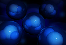 Water molecules Royalty Free Stock Image