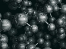 Water molecules 3D rendering Stock Photography