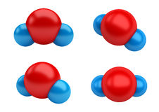 Water Molecules H2O Stock Photos