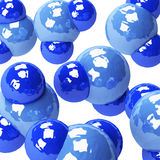 Water molecules Stock Images
