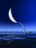 Water from Moon Royalty Free Stock Photography