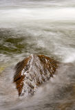 Water Motion, Merced River. Moving water on the Merced River, Yosemite Valley, California Royalty Free Stock Image
