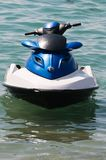 Water motorcycle. The water motorcycle costs on the sea at coast Royalty Free Stock Image