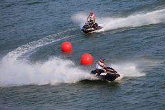 Water Motorcycle Competition Royalty Free Stock Photography