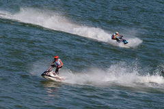 Water Motorcycle Competition Royalty Free Stock Photo
