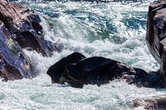 Water mountain river and the wonderful rocky creek stock images