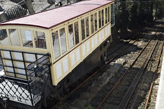 Water moved funicular. Inaugurated in 1882, the Bom Jesus do Monte Funicular in Braga, Portugal, is the oldest funicular in the world moved by water Stock Photos
