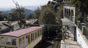 Water moved funicular. Inaugurated in 1882, the Bom Jesus do Monte Funicular in Braga, Portugal, is the oldest funicular in the world moved by water Royalty Free Stock Image
