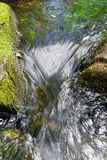 Water movement of a stream in detail view royalty free stock image