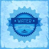 Water natural background in retro style Royalty Free Stock Photos
