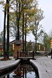 Taihang water town in the autumn stock photography