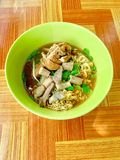 Water noodles with chicken calves and cow soft filling stock photography