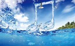 Water note Royalty Free Stock Photo