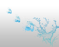 Water Note and Aqua Backround Royalty Free Stock Photos