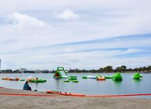 Water Obstacle Course Stock Photography
