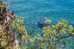 Water oceaanachtergrond Stock Afbeelding