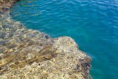 Water oceaanachtergrond Stock Afbeeldingen