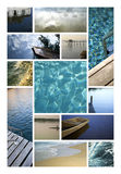 Water, ocean and rivers Stock Photos