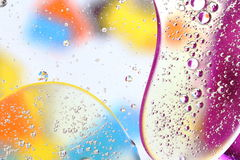 Water and oil. Colourful abstract background with water and oil Royalty Free Stock Images