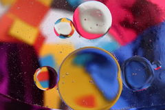 Water and oil. Colourful abstract background with water and oil Stock Photo