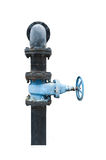 Water old pipe valve on isolated. Stock Images
