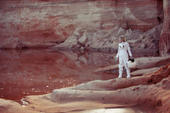 Water On Mars, Futuristic Astronaut Without A