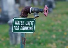 Water Ongeschikt voor het Drinken Royalty-vrije Stock Fotografie
