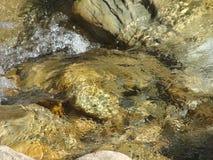 Water op de rotsen Stock Foto's